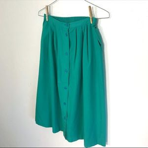 Vintage Alfred Dunner Turquoise Skirt